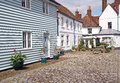 Pretty cottage mews photo of kent and flower boxes Stock Photos