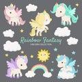 Rainbow Fantasy Unicorn Characters