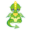 Pretty dragon baby new year 2012 Stock Image