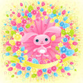 Pretty Easter bunny. Royalty Free Stock Photography