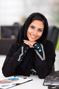 Pretty female arabian corporate worker portrait office Royalty Free Stock Photo
