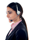 Pretty female customer care executive Stock Photos