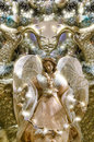Pretty festive christmas angel decoration for the holidays Royalty Free Stock Image
