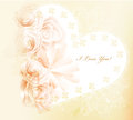Pretty gentle valentine vector card with roses Stock Photography