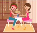 Pretty girl doing a manicure at the beauty salon Royalty Free Stock Images