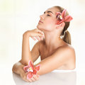 Pretty girl enjoying day spa Royalty Free Stock Photo