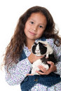 Pretty girl with guinea pig Royalty Free Stock Photography