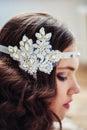 Pretty girl with handmade floral headband