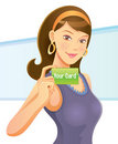 Pretty Girl Holding Card Royalty Free Stock Photography