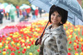 Pretty girl with umbrella Royalty Free Stock Photo