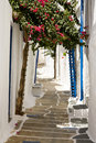 Pretty Greek Pathway, Ios, Greece Royalty Free Stock Image