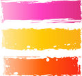 Pretty grungy banners multicolored Royalty Free Stock Images