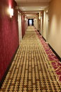 Pretty hallway in a chic hotel Stock Photography