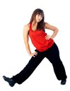 Pretty hip-hop dancer Stock Photos