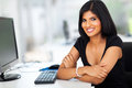 Pretty hispanic businesswoman portrait of in modern office Royalty Free Stock Photography
