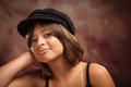 Pretty Hispanic Girl Studio Portrait Royalty Free Stock Photo