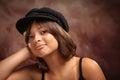 Pretty Hispanic Girl Studio Portrait Royalty Free Stock Photo