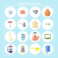 Pretty kitchenware icons Royalty Free Stock Photo