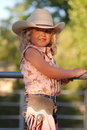 Pretty little cowgirl. Stock Images