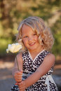 Pretty little girl. Stock Photo