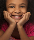 Pretty little girl with lovely smile Stock Photo