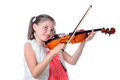 A pretty little girl playing the violin Royalty Free Stock Photo