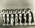 Pretty maids all in a row Royalty Free Stock Photo