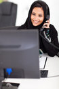Pretty middle eastern businesswoman working office Royalty Free Stock Photos