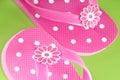 Pretty pink flip flops Royalty Free Stock Photo