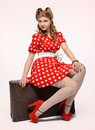 Pretty pinup girl Stock Image