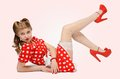 Pretty pinup girl Stock Photos
