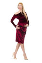 Pretty pregnant woman in red dress Royalty Free Stock Photo