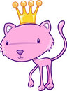 Pretty Princess Cat Vector Illustration Stock Images
