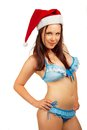 Pretty Santa helper Stock Images