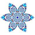Pretty Satin Snowflake Flower