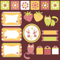 Pretty scrapbook elements Royalty Free Stock Images