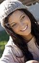 Pretty, smiling teenage girl Stock Photo