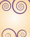 Pretty spiral card Royalty Free Stock Photography