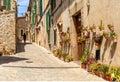 A Pretty Street in Valldemossa, Mallorca.