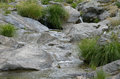 Pretty succession of small waterfall through rocks Stock Photos