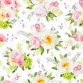 Pretty summer garden seamless vector design print