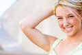 Pretty teen girl with blonde hair Royalty Free Stock Photo