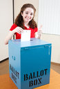 Pretty Teen Voting Royalty Free Stock Photo