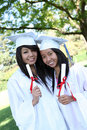 Pretty Teens at Graduation Royalty Free Stock Photo