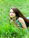 Pretty tender beautiful young female face Royalty Free Stock Photos