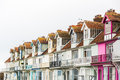 Pretty terrace houses in Whitstable Royalty Free Stock Photo
