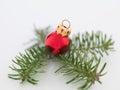 Pretty tiny red christmas globe