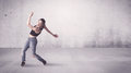 Pretty urban dancer with empty background Royalty Free Stock Photo