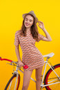 Pretty woman with bicycle