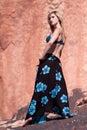 Pretty woman in bikini top Stock Photography